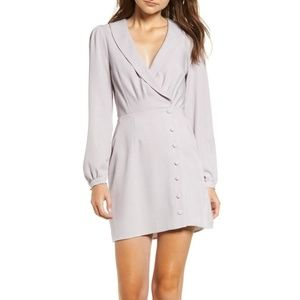 Wayf Rozy Glenplaid Button Down Wrap Dress M